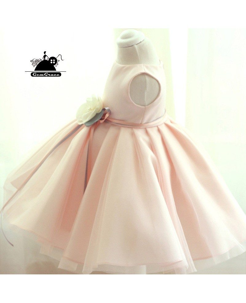 Couture high quality pink ballgown flower girl dress with for High couture