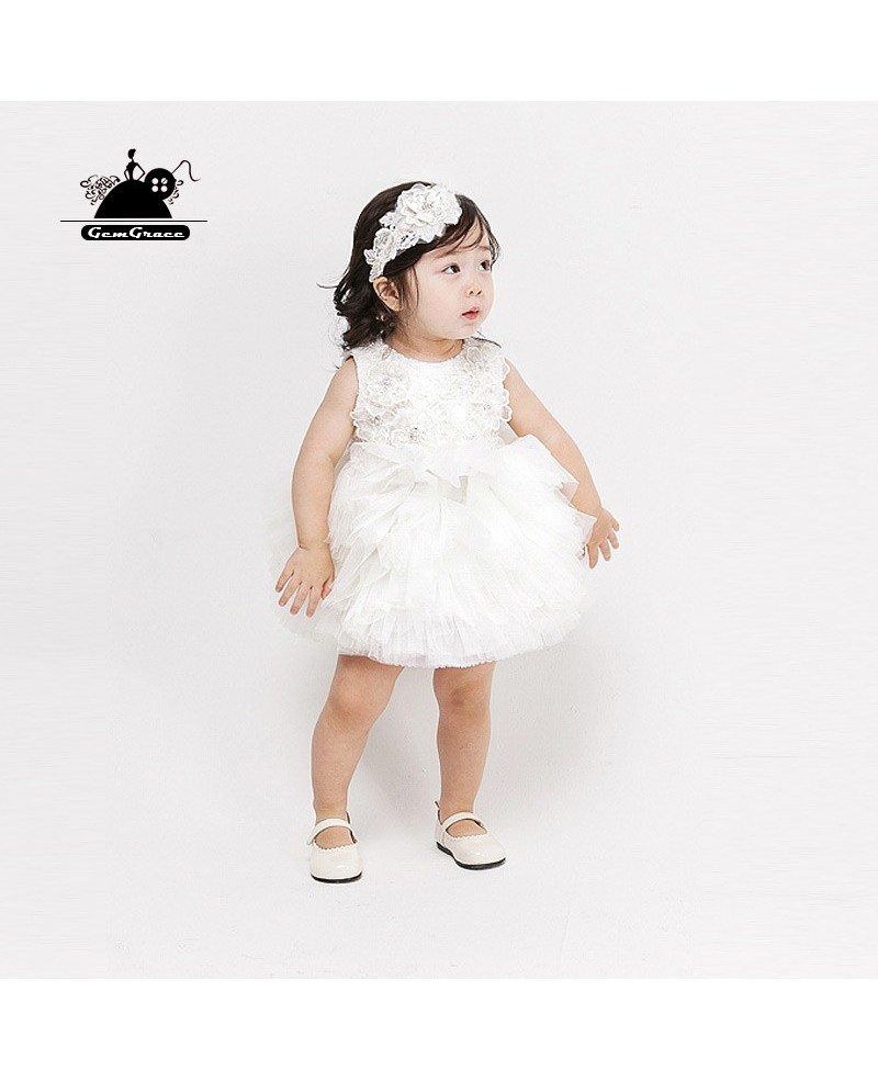 Couture Cute Puffy Tulle Toddler Girls Pageant Dress Flower Girl ...