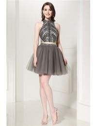 Short Grey Formal Dress