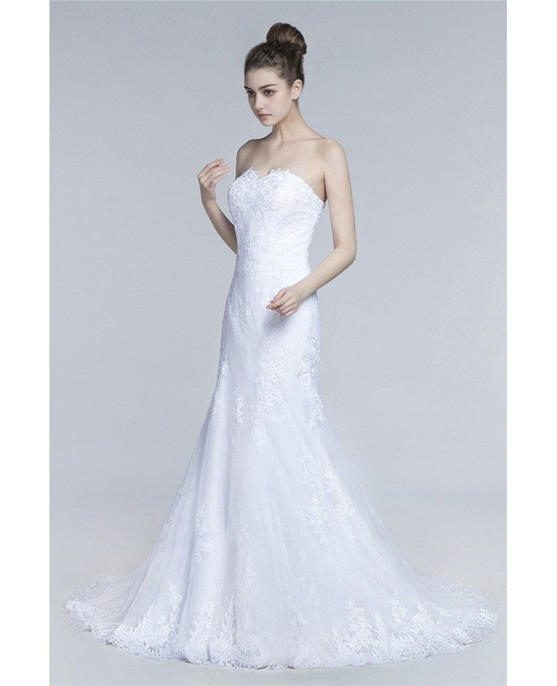 Unique Country All Lace Wedding Dress With Long Train Coverall ...