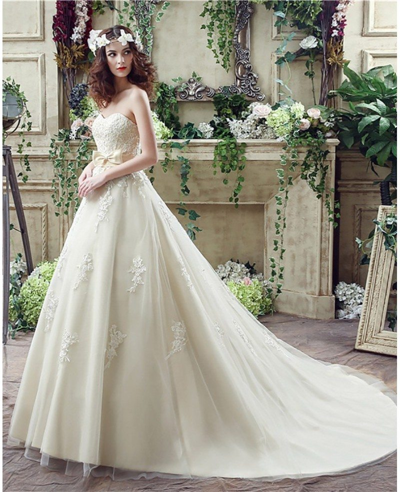 Champagne Ball Gown Wedding Dresses: Casual Champagne Bridal Dress Ball Gown For 2018 Weddings