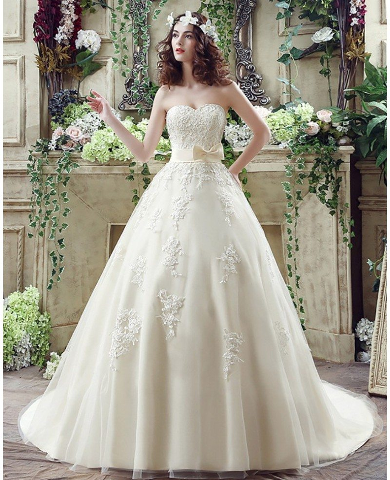 Champagne Wedding Dress: Casual Champagne Bridal Dress Ball Gown For 2018 Weddings