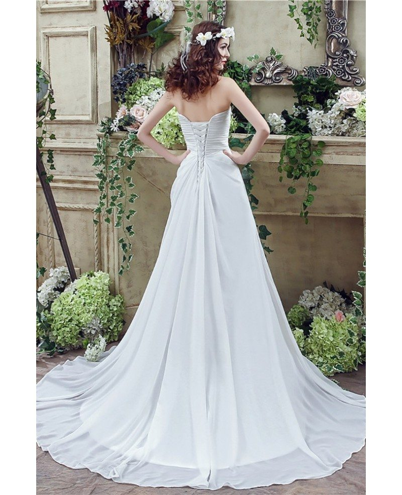 Simple Chiffon Summer Bridal Dress For Destination ...