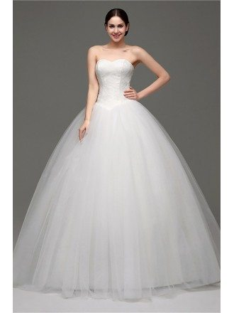 Cheap Simple Strapless Ballroom Bridal Gowns For Weddings 2018
