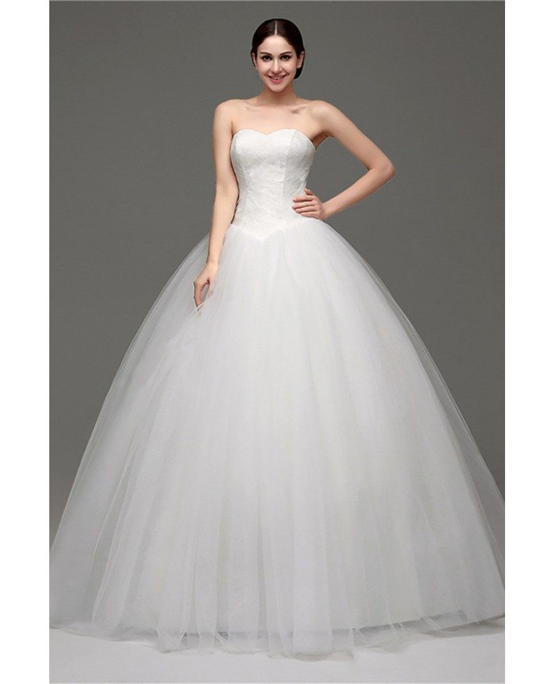 Cheap Simple Strapless Ballroom Bridal Gowns For Weddings 2018 ...