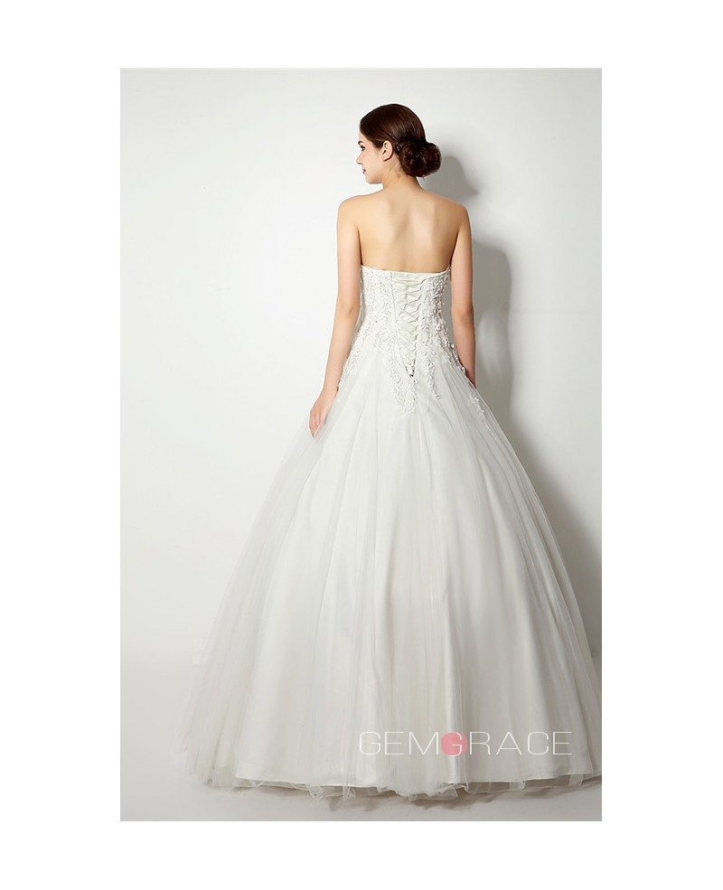 Ball gown strapless floor length wedding dress c38262 for Floor length gowns
