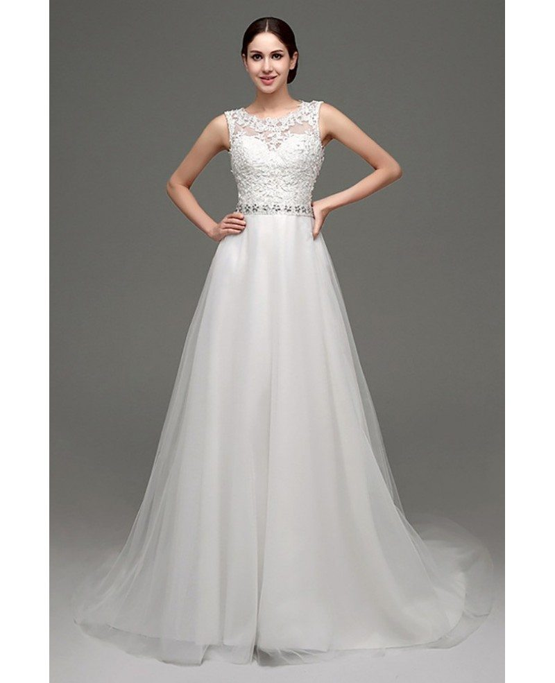 Petite Wedding Gown Designers: Cheap Elegant Petite Lace Wedding Dress With Sheer Back