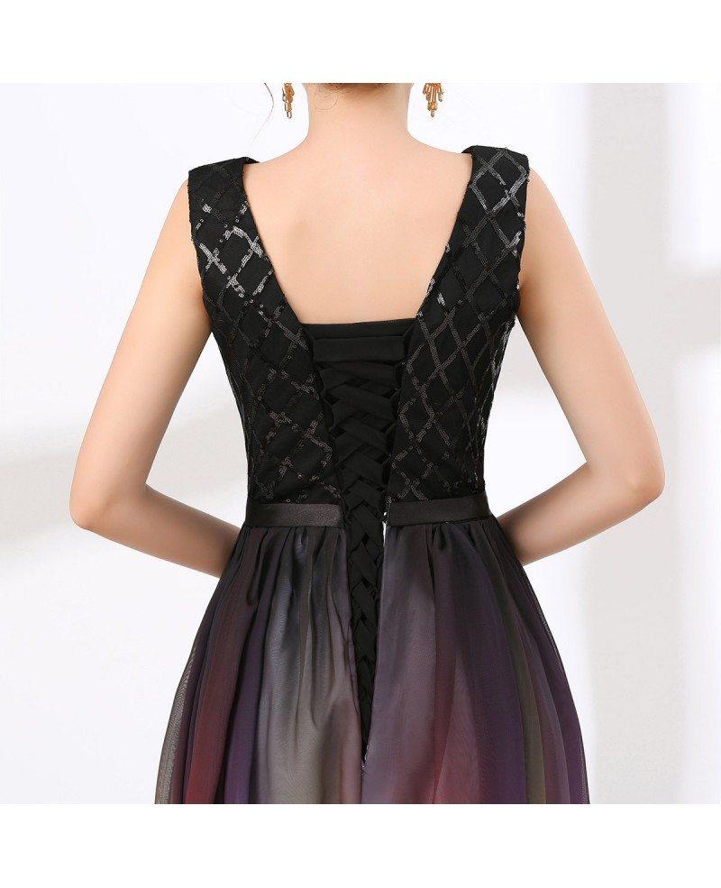 Dark Flowy Prom Dresses
