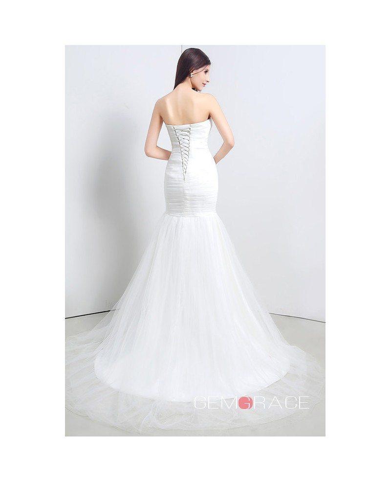 Mermaid Strapless Floor Length Wedding Dress C20111 188