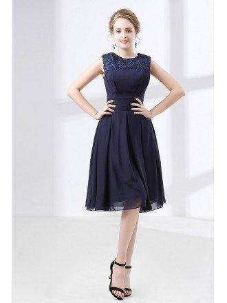 Navy Blue Short Prom Dresses