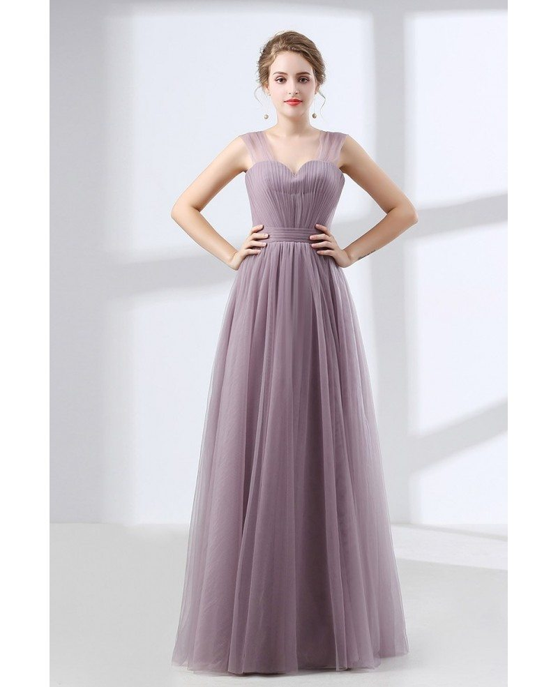 Cheap Tulle Long Homecoming Dress Dusty Lavender Under $100 #CH6632 ...