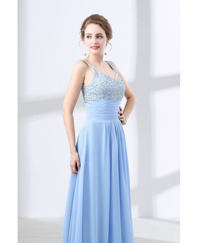 Really Cheap Sky Blue Prom Dress With Sequin Bodice Under $100 ...