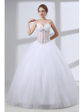 Wedding Dresses with Bling -GemGrace