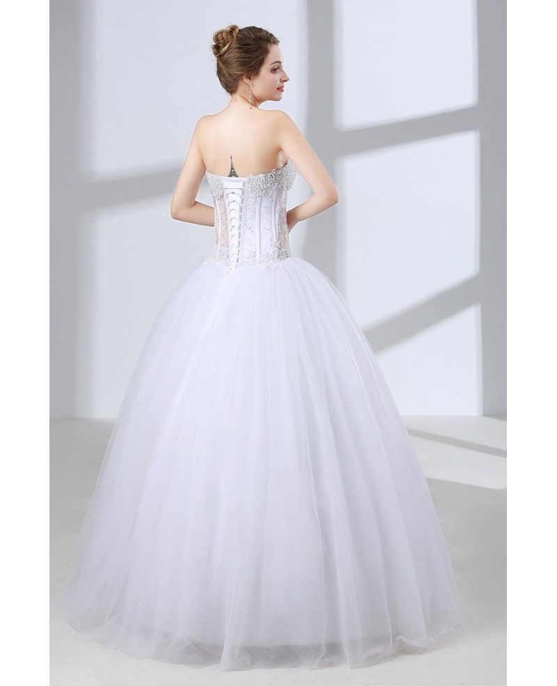 Sweetheart corset ball gown wedding dress with sexy for Sweetheart corset wedding dress