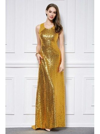 Sparkled Sequined Lace Long Prom Dress