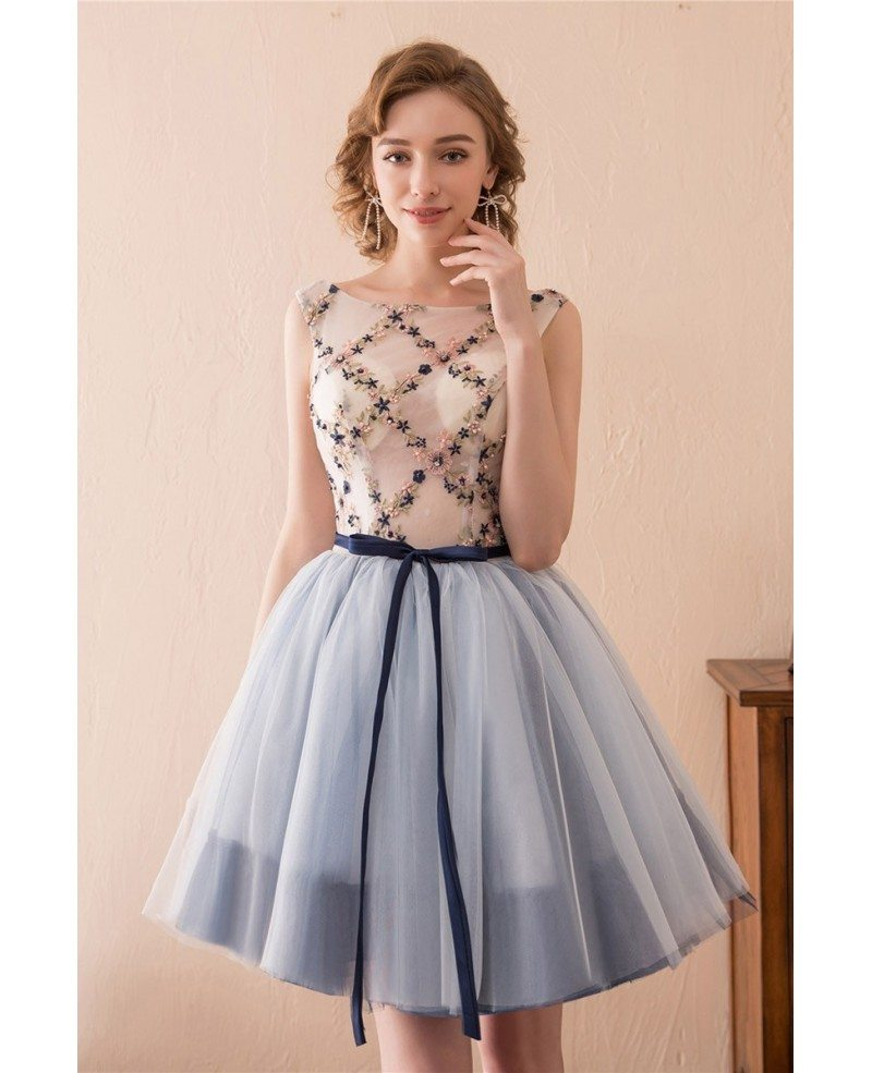 Cute Short Corset Homecoming Dress With Lace For Junior Girls ...