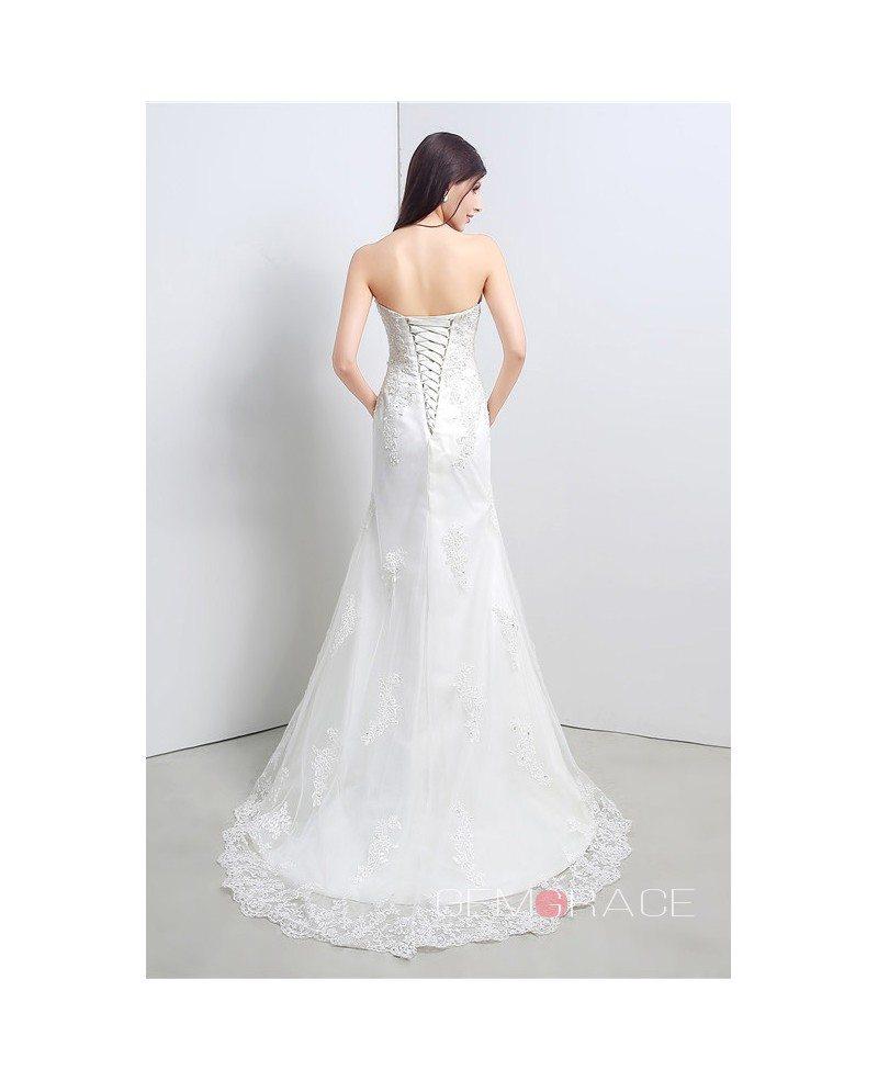 Mermaid sweetheart floor length wedding dress c23106 148 for Sweetheart mermaid wedding dress