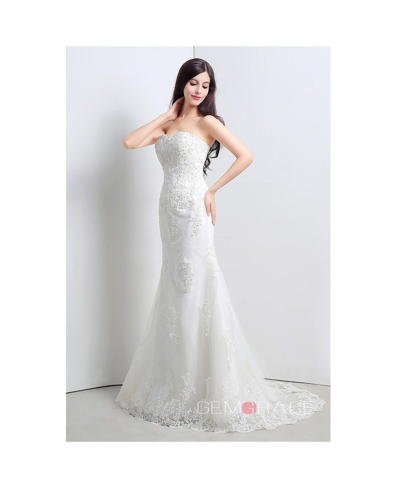 Mermaid sweetheart floor length wedding dress c23106 148 for Floor length dress