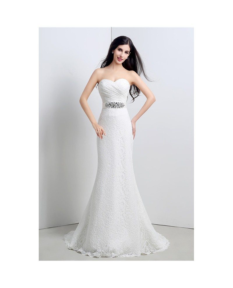 Mermaid sweetheart floor length wedding dress c23120 192 for Floor length dress