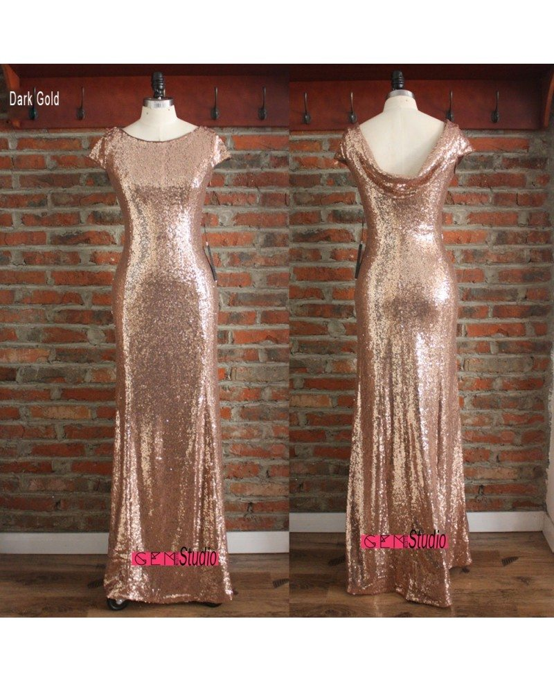 Gold sparkly bridesmaid dresses long metallic formal dress for Long wedding dresses under 100