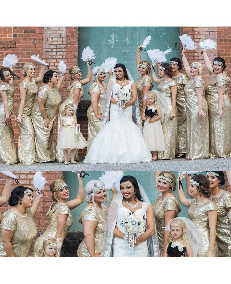Gold Sparkly Bridesmaid Dresses Long Metallic Formal Dress With Drape Down Under 100
