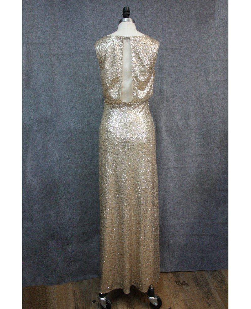 Long gold dress under 100