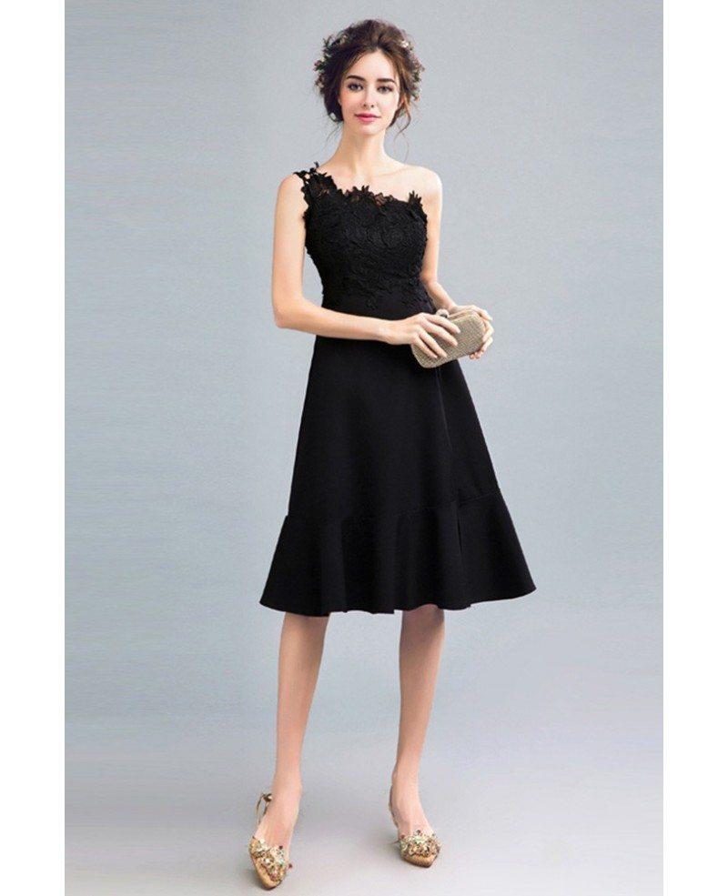 Lovely Black Knee Length Cocktail Dresses Photos - Wedding Ideas ...