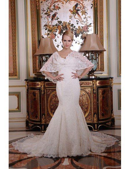 Mermaid Wedding Dress With Chapel Train : Wedding dresses gt mermaid strapless chapel train lace dress