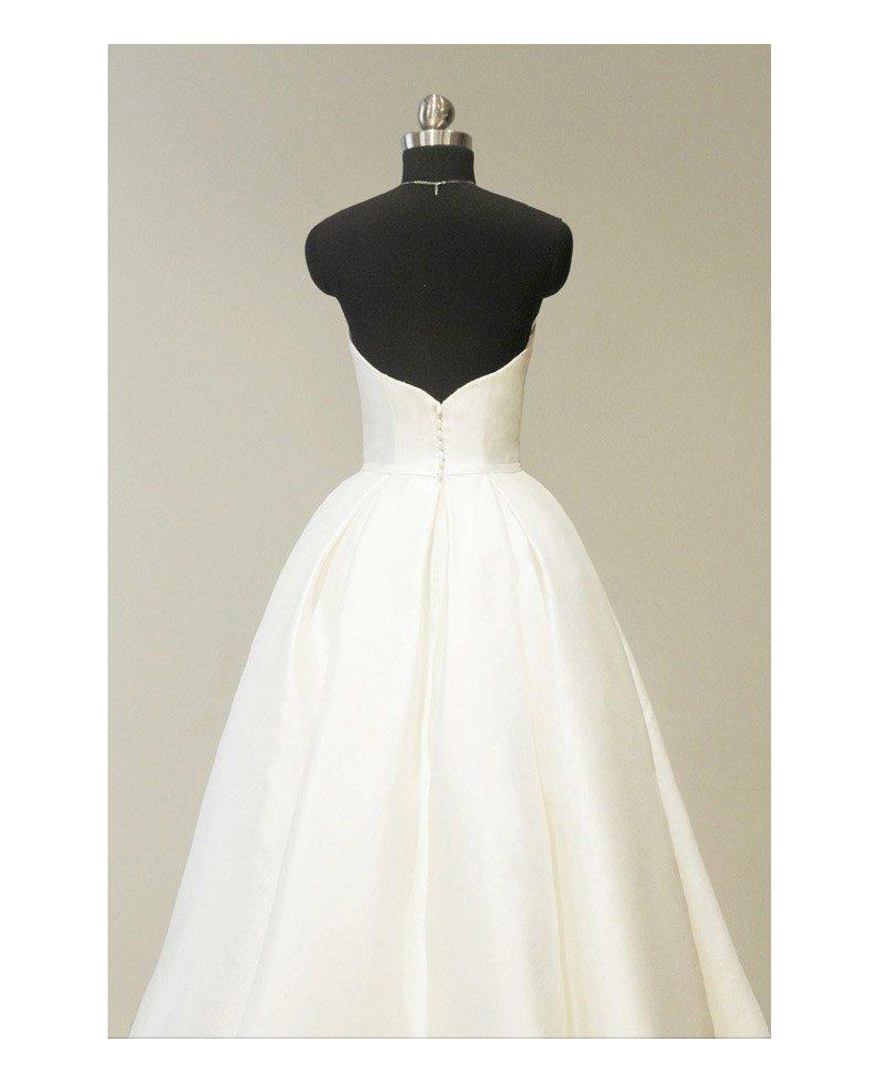Vintage 70s Ivory Satin Sweetheart Tea Length Wedding Dress For Chic ...