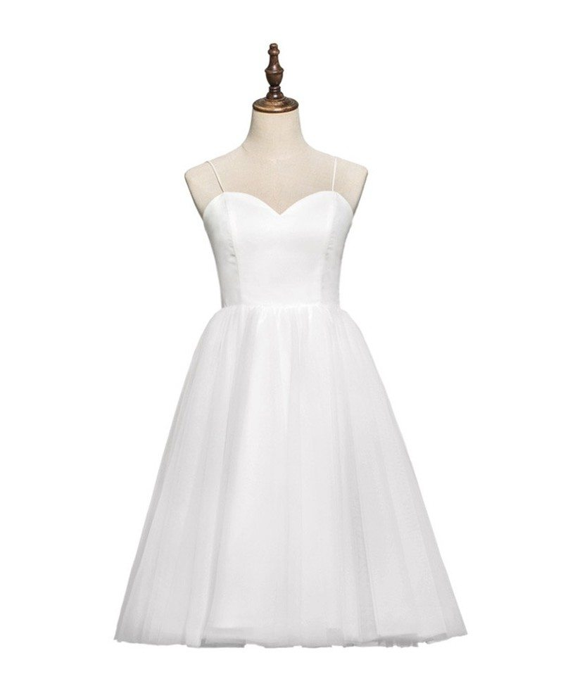 Vintage Wedding Dresses 80s: Simple Chic 70s 80s Vintage Tea Length Ballet Wedding
