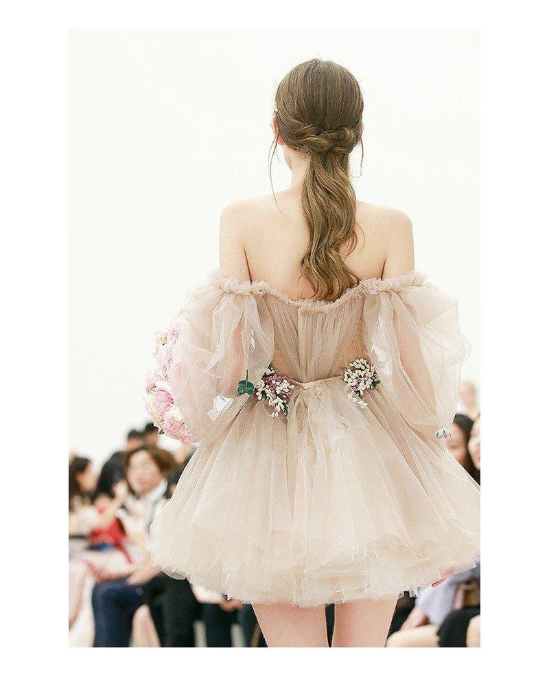 Gorgeous Off Shoulder Tulle Tutu Mini Short Party Dress