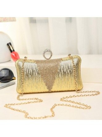 Sparkling Glitter Clutches with Rhinestone Style