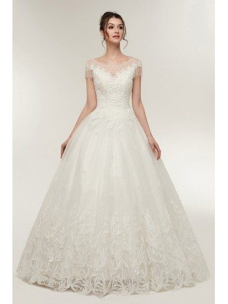 Bling Wedding Dresses, Wedding Dresses with Bling -GemGrace