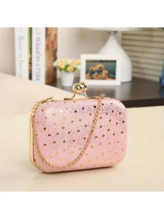 Lovely Satin Polka Dot Clutches Style