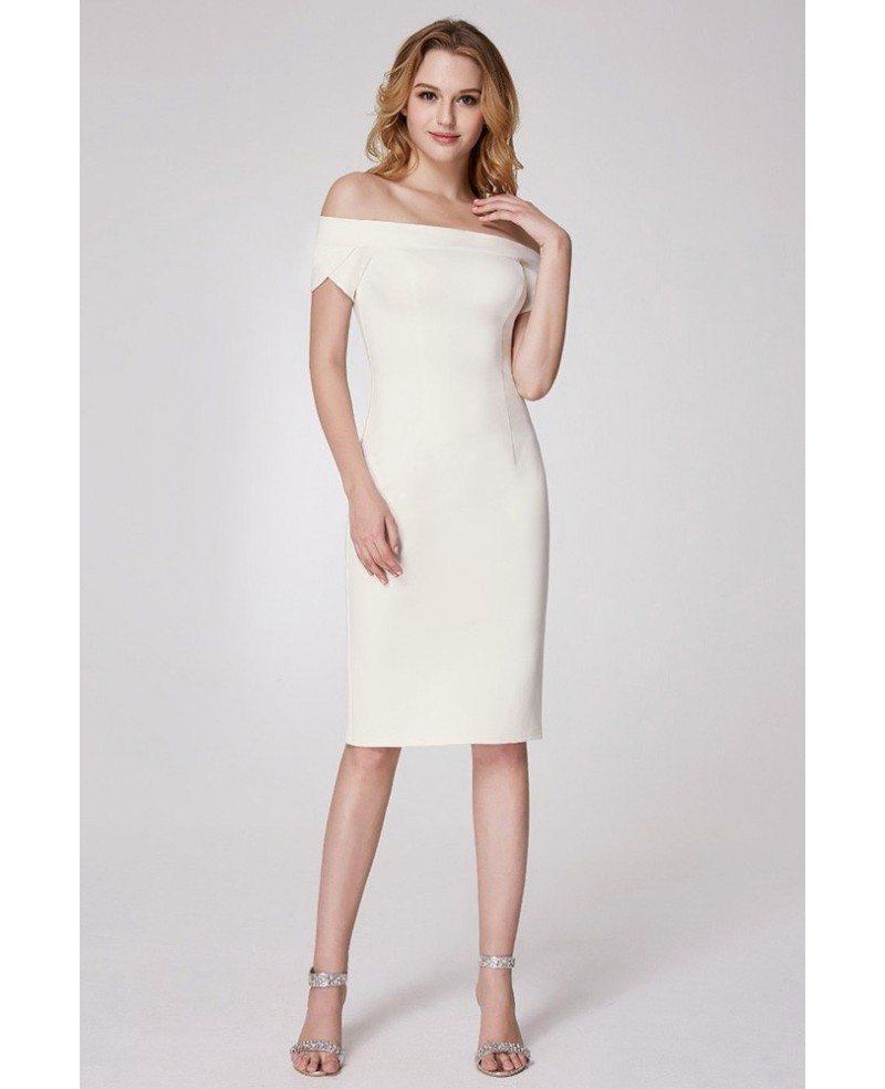 Formal Attire: $49 Trendy Off Shoulder Formal Dress With Short Sleeves