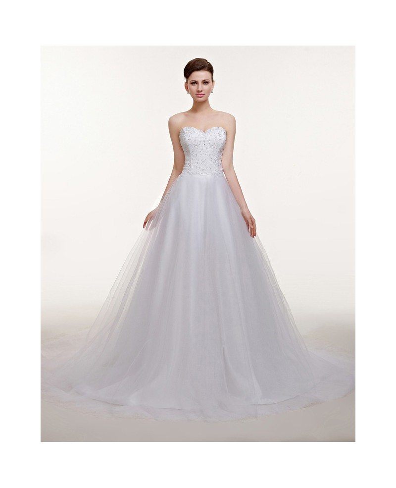 Empire Tulle Wedding Dress