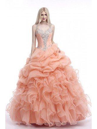 Popular Ballgown Beaded Straps Formal Long Dress