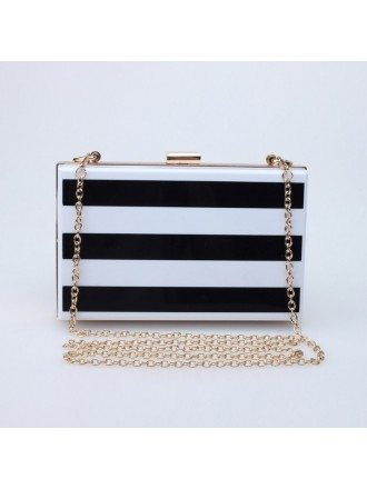 Fashionable Striped Minaudiere Style