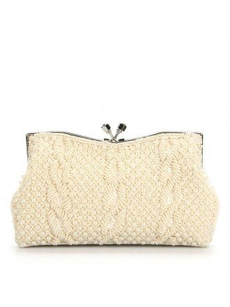 Gorgeous Satin Pearl Clutches Style