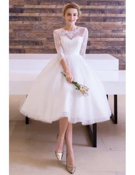 Vintage A-Line Wedding Dress