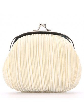 Pleated Satin Clutches Style