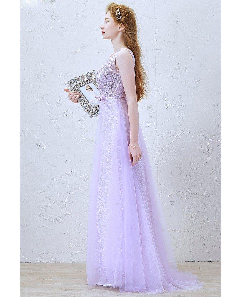 romantic aline scoop neck floorlength lace tulle wedding