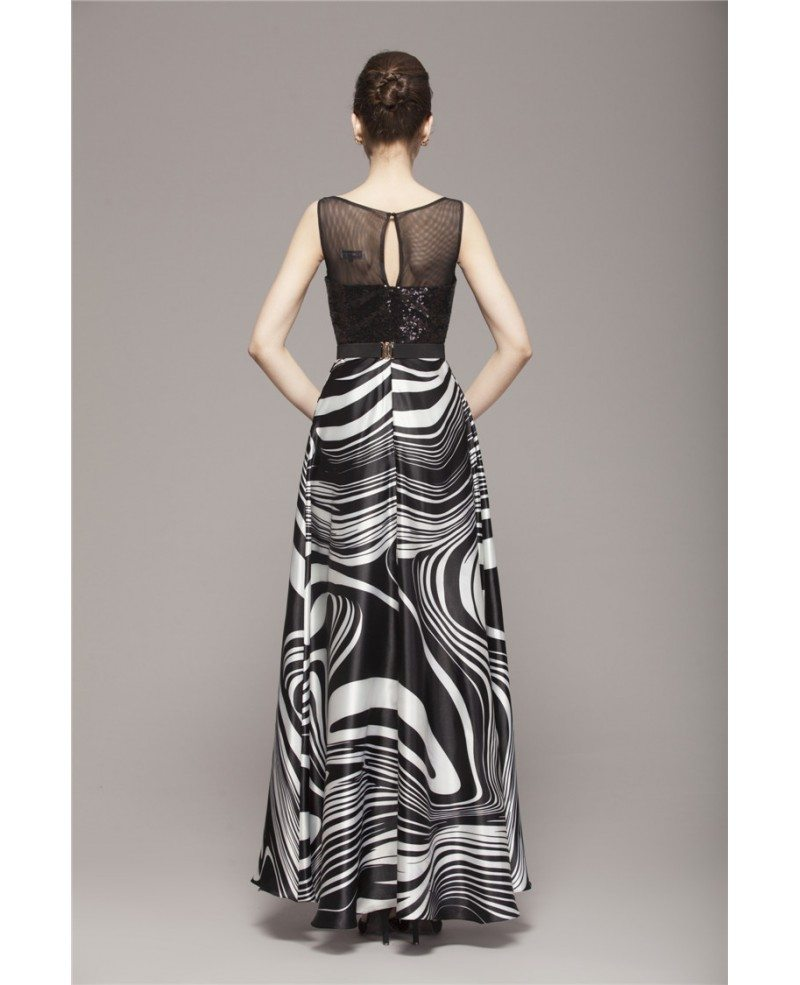 Chic a line chiffon printed wedding guest dress with for Dresses to wear in a wedding