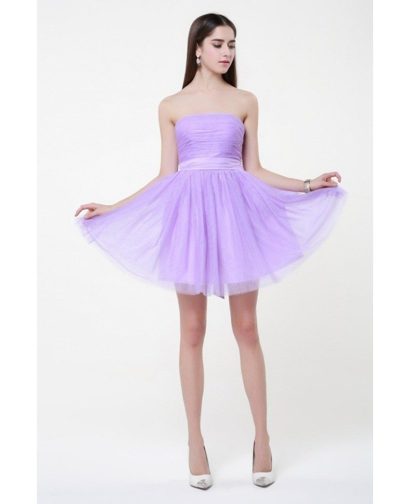 Simple Chiffon Lilac Chiffon Short Bridesmaid Dresses