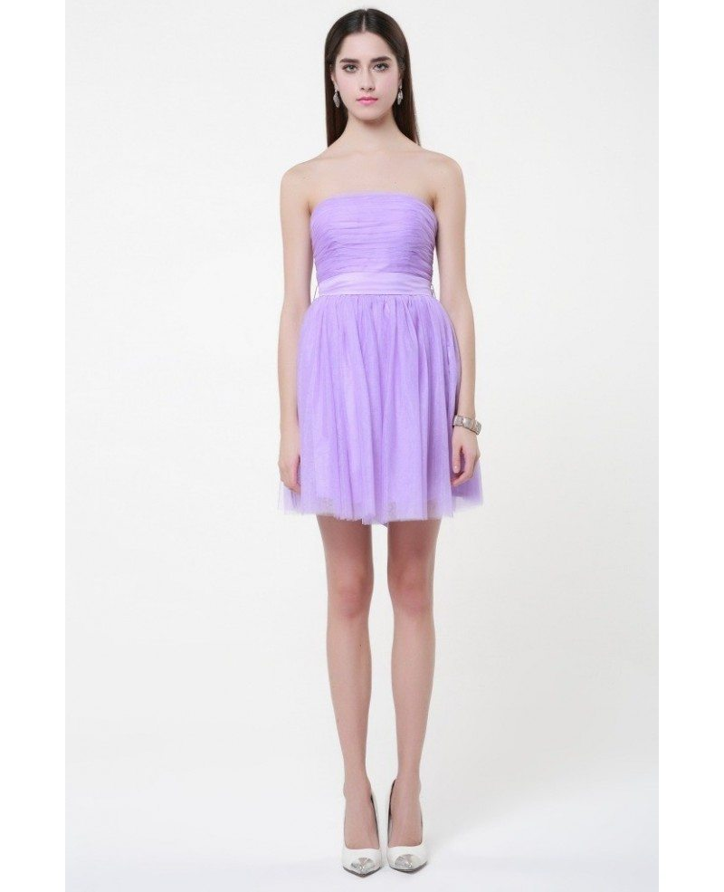 Simple Chiffon Lilac Chiffon Short Bridesmaid Dresses #DK227 $56.9 ...