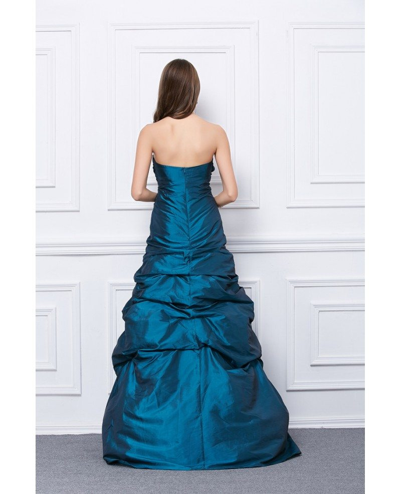 fancy ballgown strapless taffeta floorlength prom dress