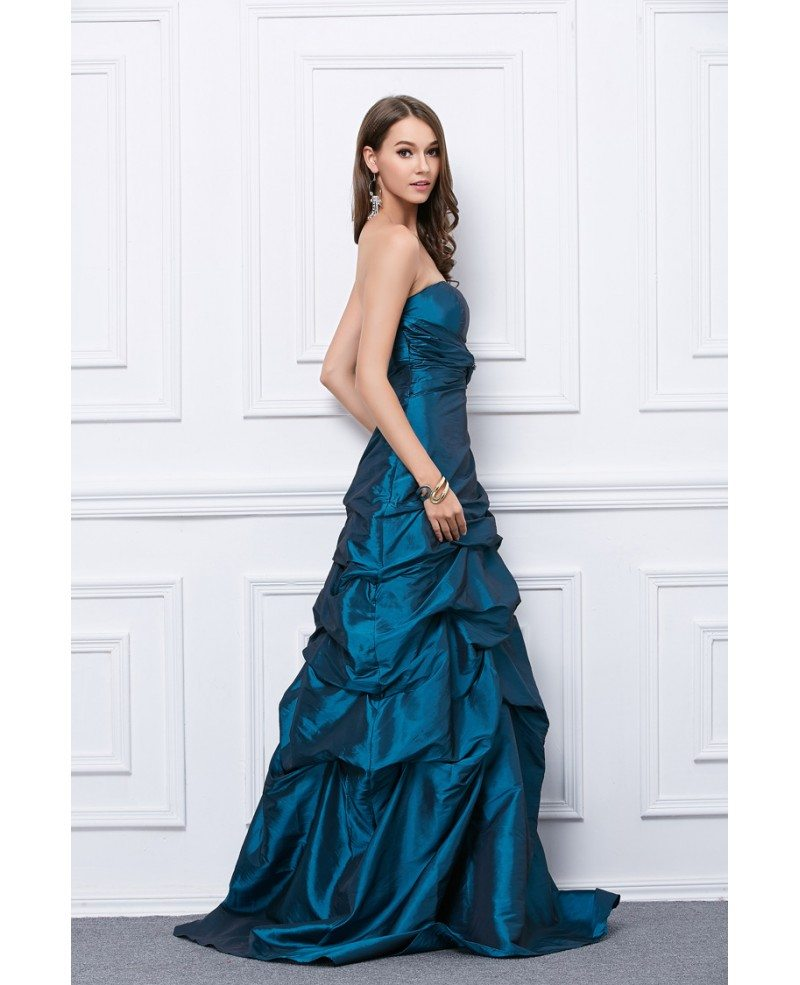 Fancy Ball-Gown Strapless Taffeta Floor-Length Prom Dress