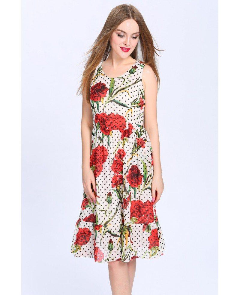 Summer a line floral print chiffon short wedding guest for Floral wedding guest dresses