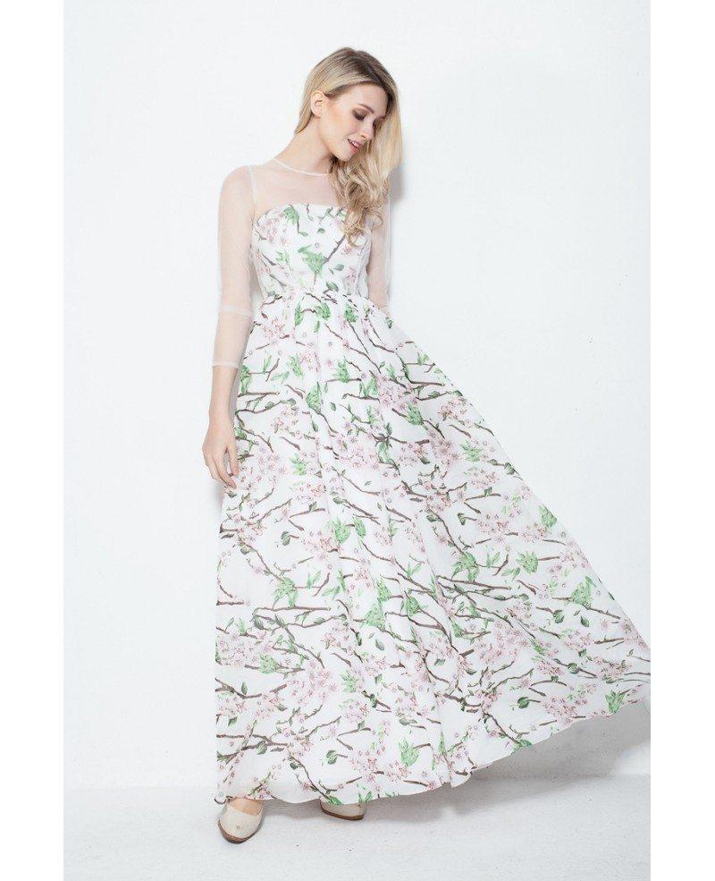fresh aline floral print summer wedding guest dress with