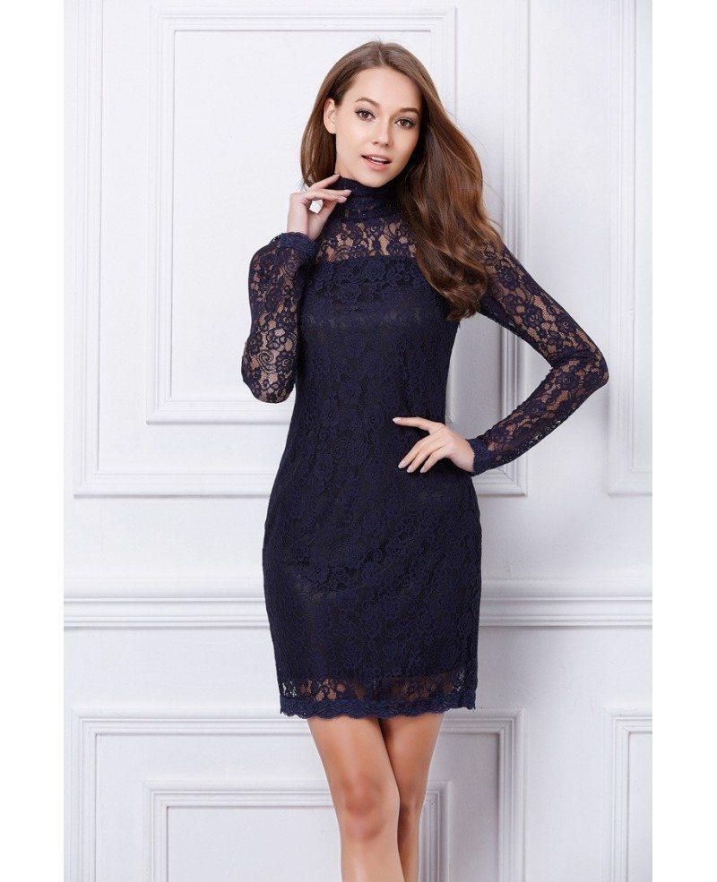 Black Long Sleeve Beading Backless Lace Dress Sheinsidecom 856c5db7a